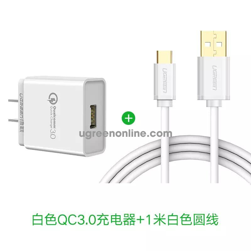 Ugreen 20839 3.0 30W Quick Charge Usb Charger Sạc Nhanh Qc3.0 White Cd122