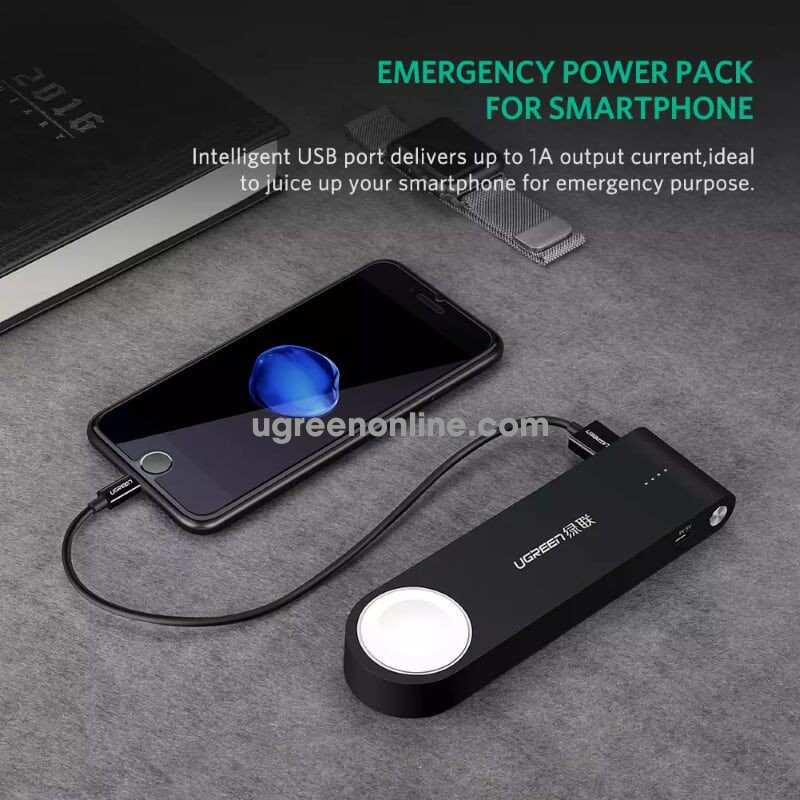 Ugreen 20844 2200Ma Mfi Certified Apple Iwatch Charger Power Bank Pin Cd129