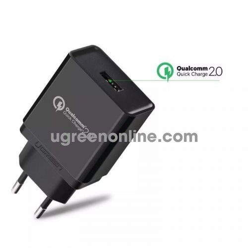 Ugreen 30387 3.0 30W Quick Charge Usb Charger Sạc Nhanh Qc3.0 Black Cd122