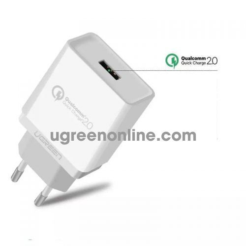 Ugreen 30388 3.0 30W Quick Charge Usb Charger Sạc Nhanh Qc3.0 White Cd122