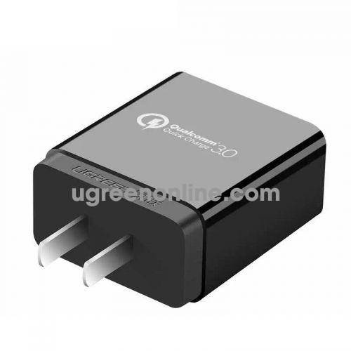 Ugreen 40710 18W Qc3.0 Black Usb Charger Quick Charge 3.0 Sạc Nhanh Cd122