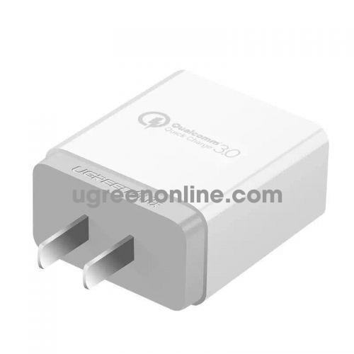 Ugreen 40711 18W Qc3.0 White Usb Charger Quick Charge 3.0 Sạc Nhanh Cd122
