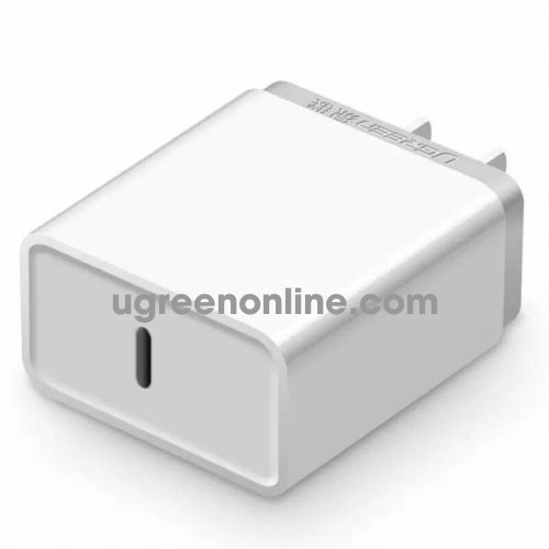 Ugreen 20760 30W Type C Quick Charge Usb C Pd Power Adapter White Cd127 10020760