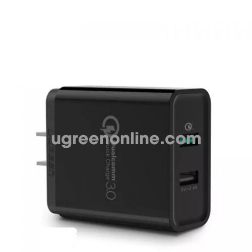 Ugreen 40712 30W Dual Qc3.1 + 2.4A Usb Charger Eu Black Sạc Nhanh 3.0 Cd132