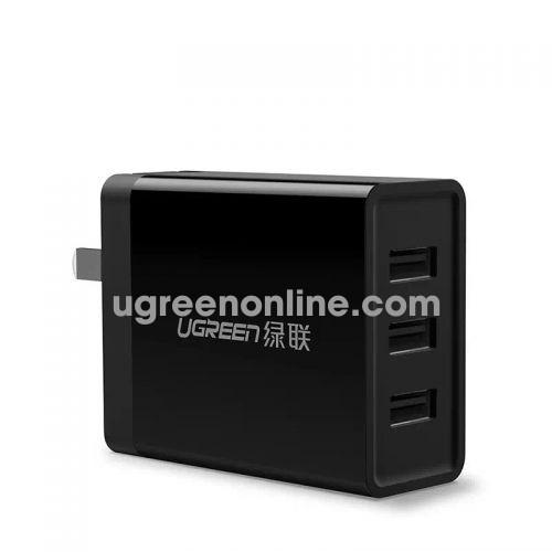 Ugreen 40305 24W 3 Port Usb Wall Charger Black Sạc Nhanh 3 Cổng Cd148
