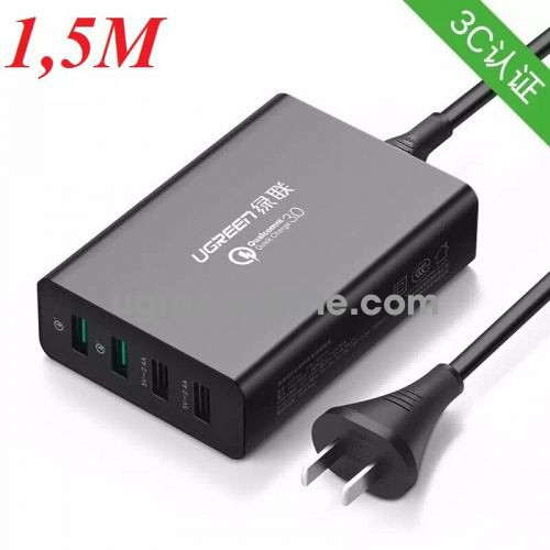 Ugreen 40716 Quick Charge 3.0 4 Port Usb Charger 2X 2.4A + 2X Qc3.0 Fcp Cd162