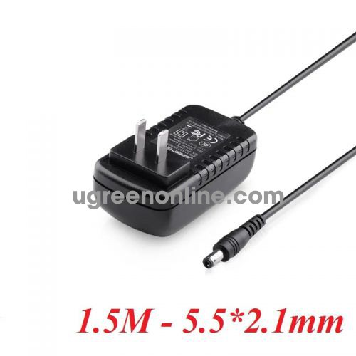Ugreen 20359 12V2A 5.5*2.1mm Black AC To DC 5.5mm x 2.1mm Power Supply Adapter CD139 10020359