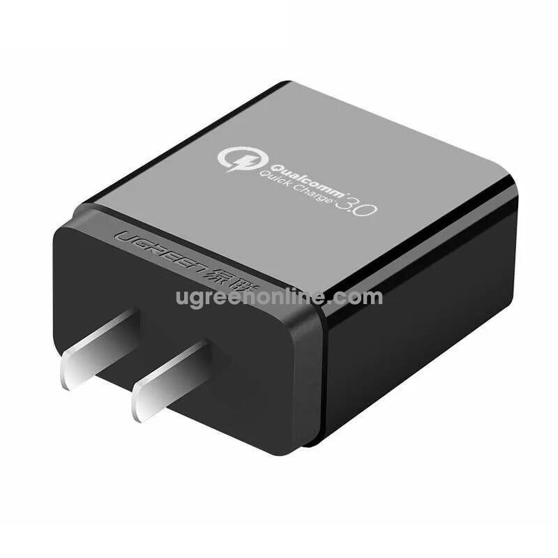 Ugreen 20908 Quick Charge 2.0/3.0 Usb Charger Qc 3.0 Đen Cd122