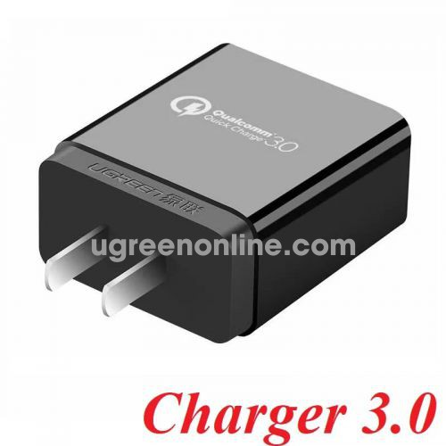 Ugreen 20908 Quick Charge 2.0/3.0 Usb Charger Qc 3.0 Đen Cd122