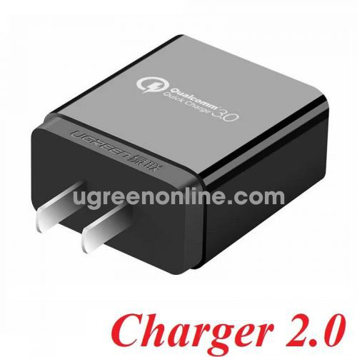 Ugreen 40407 Usb Charger Qc 3.0 With Fcp Đen Cd122