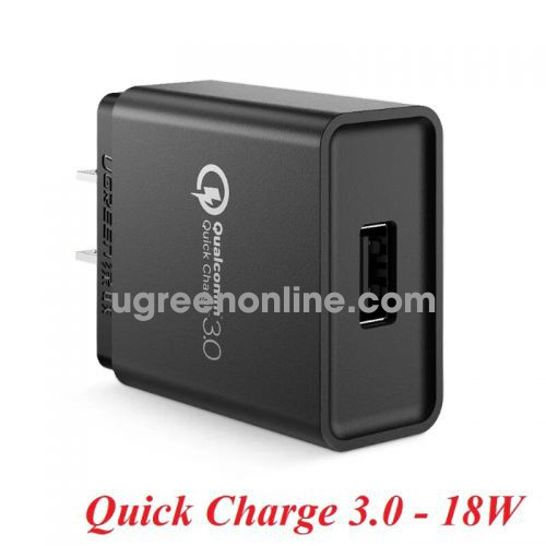 Ugreen 20904 18W qc3.0 Black Quick Charge 3.0 USB Wall Charger 20904 10020904