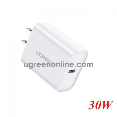 Ugreen 70149 White 30W Power Delivery USB C Fast Charger CD127 10070149