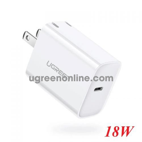 Ugreen 70226 White PD 18W Fast Charger Power Adapter Foldable US CD137 10070226