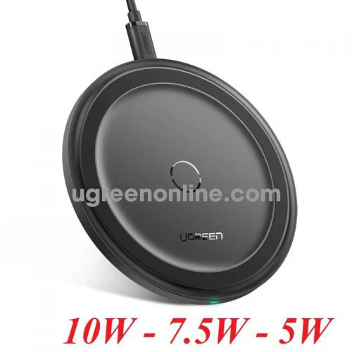 Ugreen 60470 Black Fast Wireless Charger 10W 7.5W 5W ED032 10060470