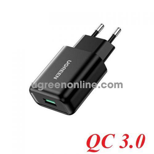 Ugreen 70273 18W QC3.0 Black Fast Charging Power Adapter EU CD122 10070273