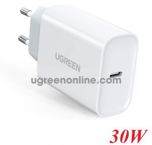 Ugreen 70161 30W PD3.0 usb type c white smart single port charger European standard CD127 10070161