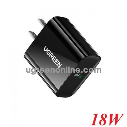 Ugreen 10184 18W Black PD Fast Charging Power Adapter US cd137 10010184