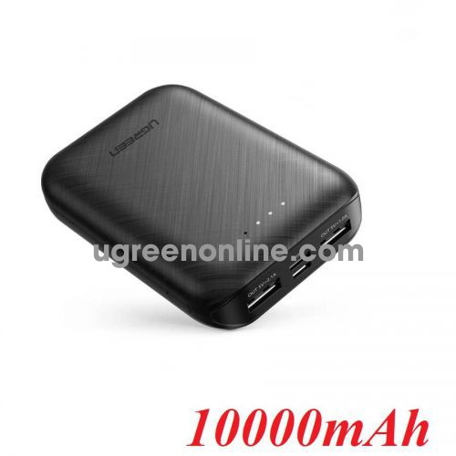 Ugreen 60874 5V-2.1A 10000mAh output USB A x 2 - input 1 type c + 1 Micro USB Black Power Bank PB133 10060874