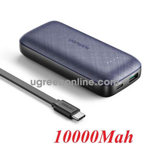 Ugreen 80749 10000mAh 18W Blue Mini Power Bank USB-A + USB type C PB178 10080749