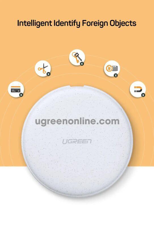 Ugreen 60112 Wireless charger màu Trắng CD186