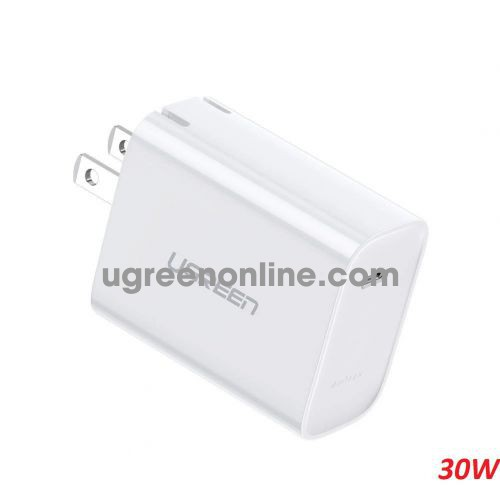Ugreen 70725 30W PD Power Delivery 3.0 Fast Charger white CD127 10070725