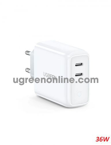 Ugreen 70263 36W 2 Port PD USB type C Charger white CD199 10070263
