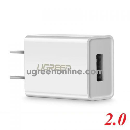 Ugreen 50714 White USB 2.0 Charging Adapter 5V-1A CD112