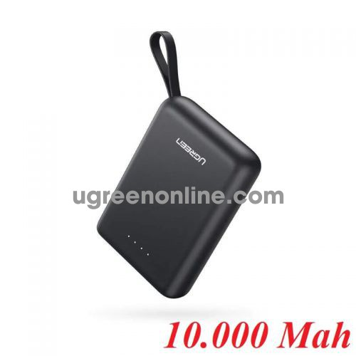 Ugreen 60452 Black Mini Power Bank Dual USB-A + Type C 10000Mah PB133