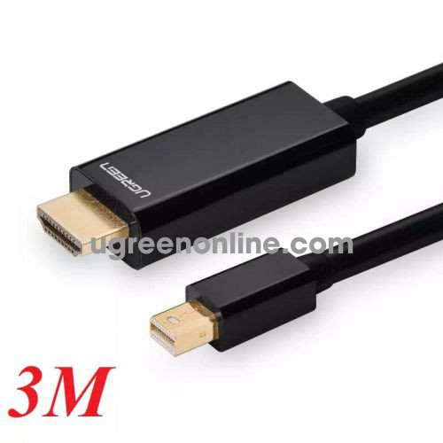 Ugreen 10436 3m mini dp male to hdmi cable cáp MD101