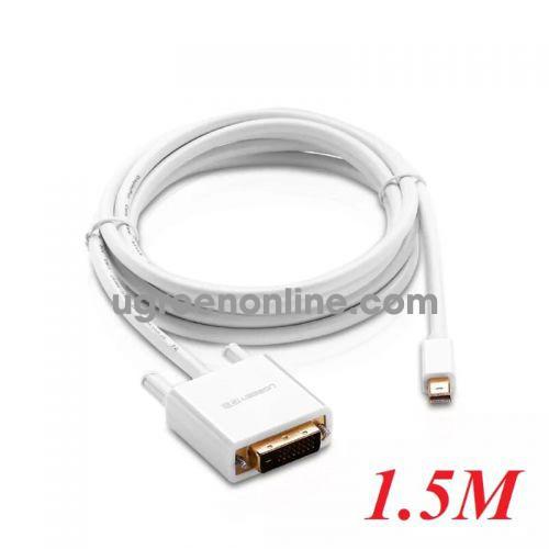 Ugreen 10443 1.5m Mini dp to DVI converter đầu chuyển đổi cable cáp Support 1920*1080 MD102