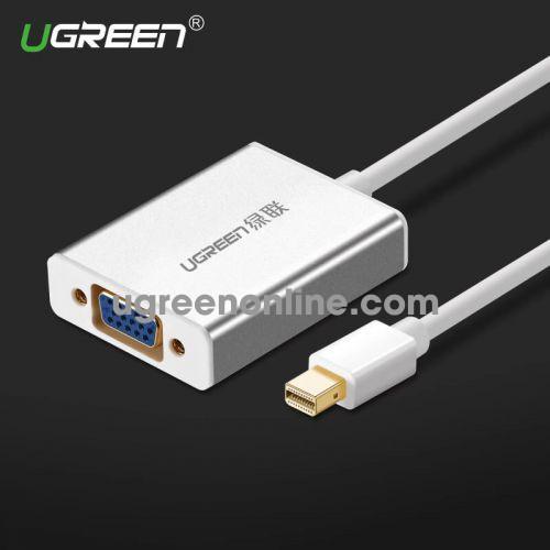 Ugreen 10403 Mini DP to VGA converter đầu chuyển đổi Aluminum Withoutaudio MD107 10010403
