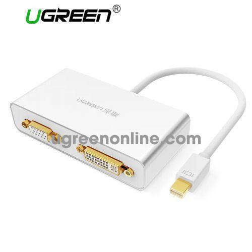 Ugreen 10440 3in1 Mini DisplayPort to HDMI&VGA&DVI converter đầu chuyển đổi màu đen MD109
