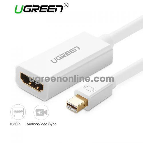 Ugreen 10460 Mini dp to HDMI female converter đầu chuyển đổi cable cáp Support 1920*1080 60 MD112 10010460