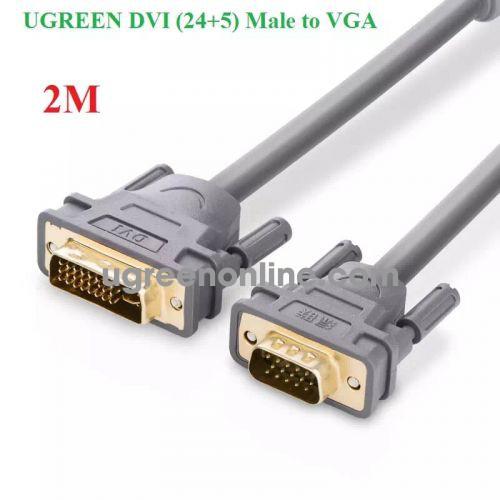 Ugreen 11660 Cáp chuyển đổi DVI 24+5dương sang VGA dương dài 2m màu xám UGREEN DVI 24+5 Male to VGA male converter cable DV104 10011660