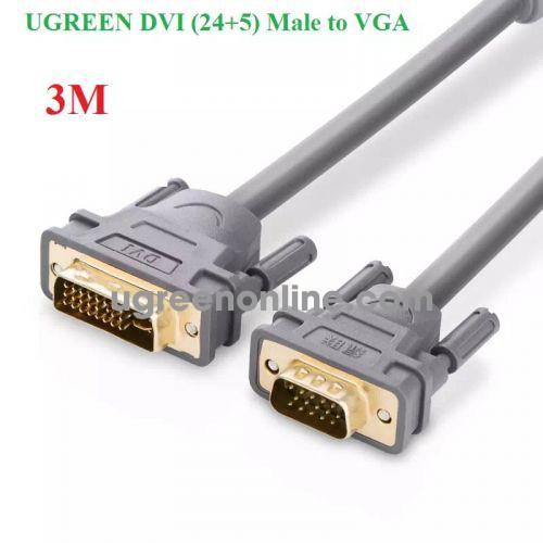 Ugreen 11661 Cáp chuyển đổi DVI 24+5dương sang VGA dương dài 3m màu xám UGREEN DVI 24+5 Male to VGA male converter cable DV104 10011661