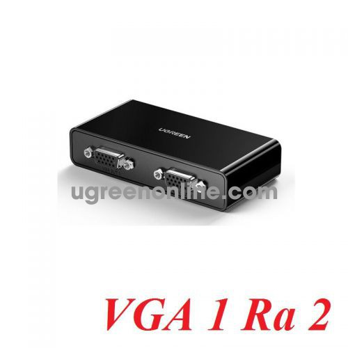 Ugreen 80190 1080P@60Hz Black Vga Splitter One Input Two Output with Power Cord CM339 10080190