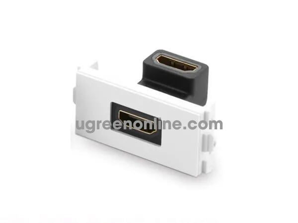 Ugreen 20318 90 Dergee Elbow 48x24mm HDMI Wall Plate Socket Panel 86 MM113