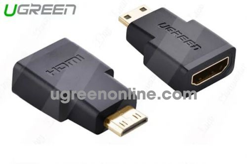 Ugreen 20101 4K Mini HDMI Male To HDMI Female Adapter Gold Connector Converter 20101 10020101