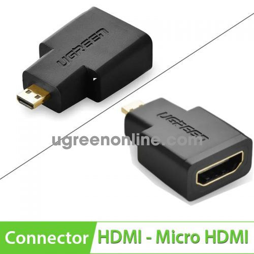 Ugreen 20106 4K Micro HDMI Male To HDMI Straight Female Adapter Gold 20106 10020106