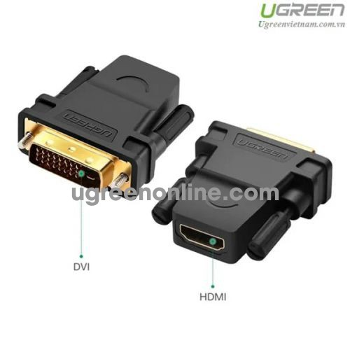Ugreen 20124 DVI 24+1 Male To HDMI 1080P Female Adapter Gold Connect Converter 20124 10020124