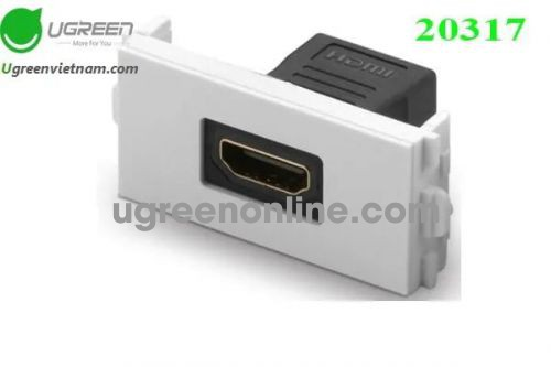 Ugreen 20317 Straight 48x24mm HDMI Wall Plate Socket Panel 86 Module MM113 10020317