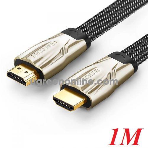 Ugreen 10250 1M Hdmi Flat Cable Hd102 Metal Connector Nylon Braid 1.4V Full Copper 19+1 Hd102
