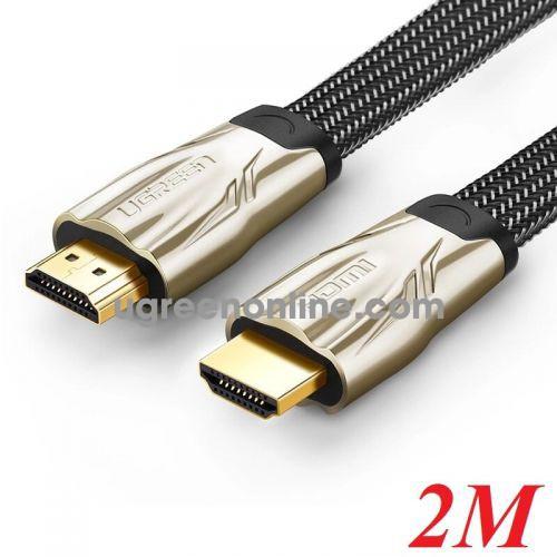 Ugreen 10252 2M Hdmi Flat Cable Hd102 Metal Connector Nylon Braid 1.4V Full Copper 19+1 Hd102