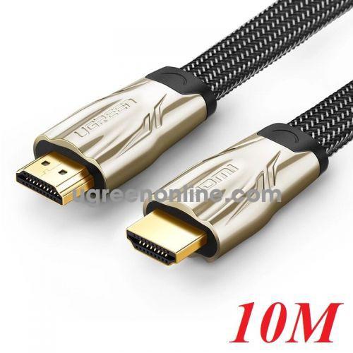 Ugreen 10256 10M Hdmi Flat Cable Hd102 Metal Connector Nylon Braid 1.4V Full Copper 19+1 Hd102