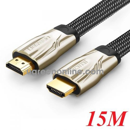 Ugreen 10258 15M Hdmi Flat Cable Hd102 Metal Connector Nylon Braid 1.4V Full Copper 19+1 Hd102