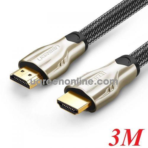Ugreen 11192 3M Hdmi Cable Hd102 Metal Connector Nylon Braid 1.4V Full Copper 19+1 Hd102