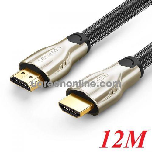 Ugreen 11196 12M Hdmi Cable Hd102 Metal Connector Nylon Braid 1.4V Full Copper 19+1 Hd102