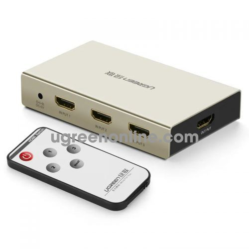 Ugreen 40278 Hdmi 3*1 Switch Zinc Alloy Case 40278