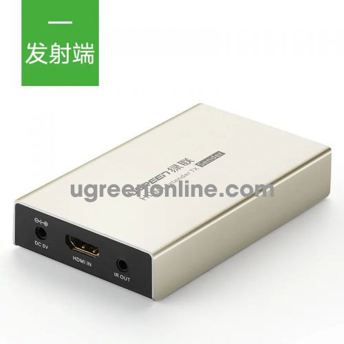 Ugreen 40280 Hdmi Single Extender Transmitter 120M By Cat5E 6 With Ir Control Zinc Alloy Mm116