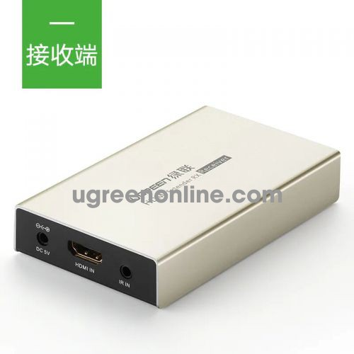Ugreen 40283 Hdmi Single Extender Receiver 120M By Cat5E 6 With Ir Control HợP Kim KẽM Mm116 10040283